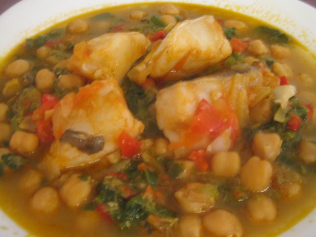 Potaje de garbanzos con bacalao y espinacas aprende cocina - Potaje con bacalao y espinacas ...