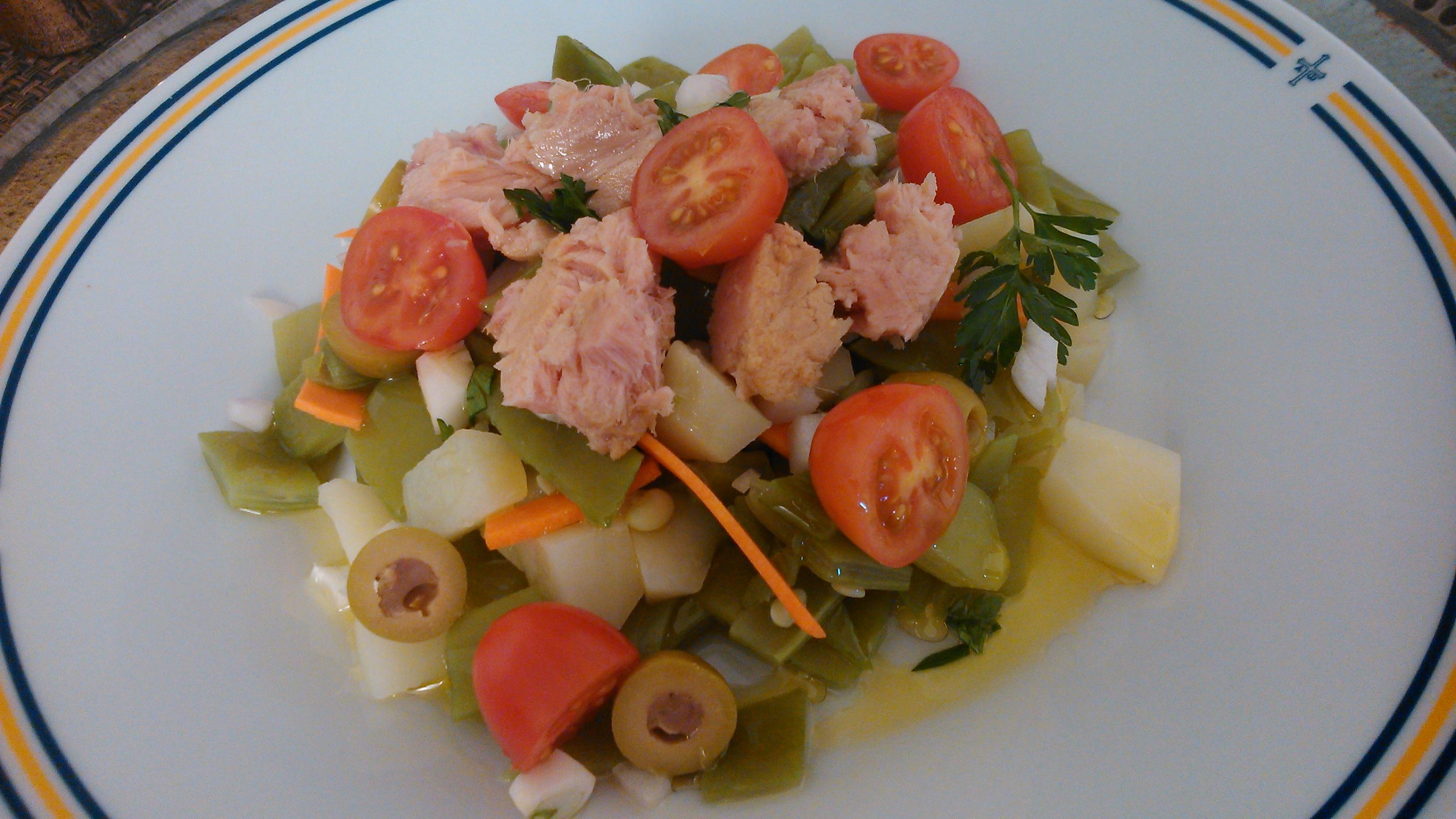 Ensalada de judias verdes aprende cocina - Ensalada de judias verdes arguinano ...