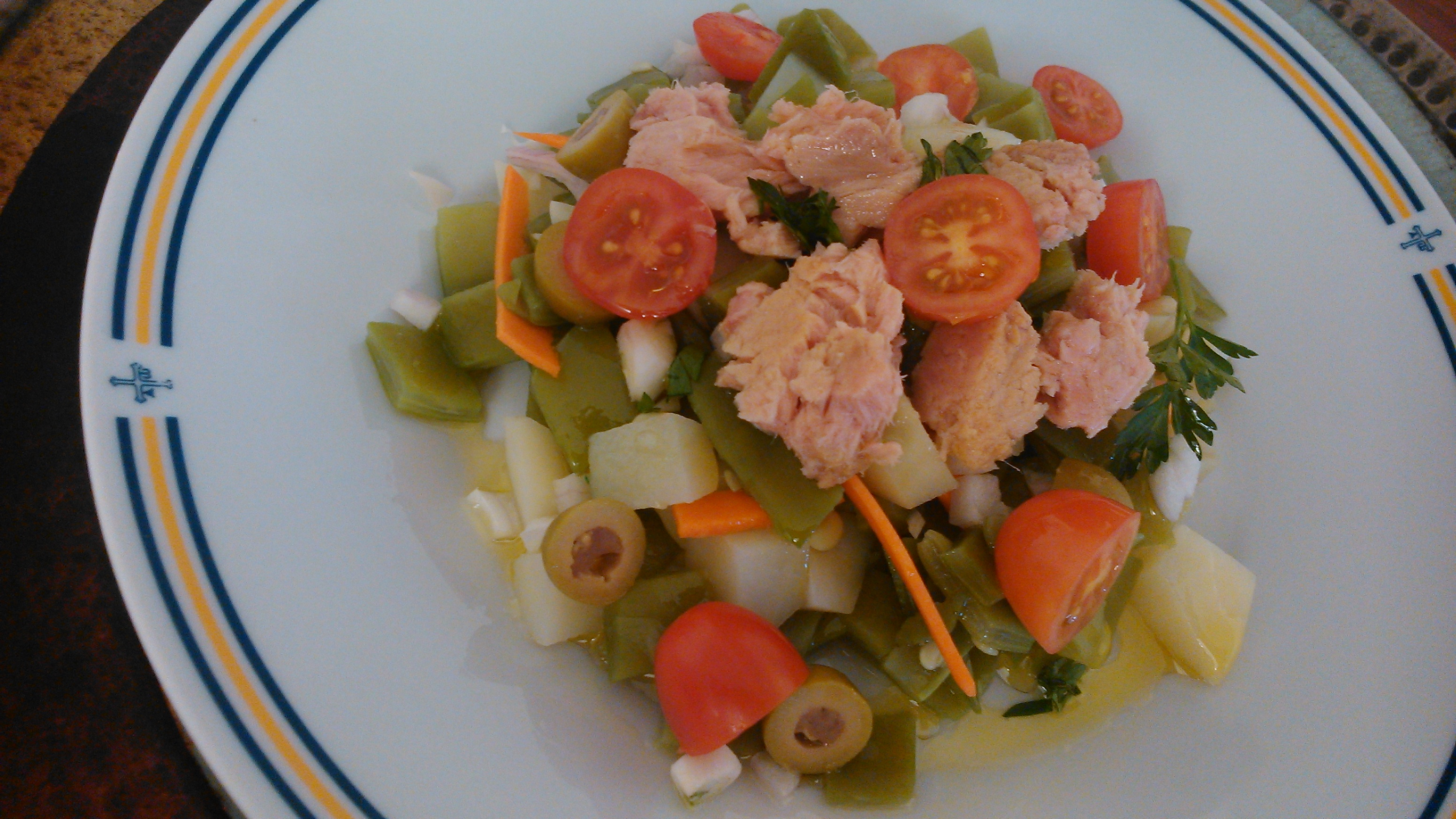 Ensalada de judias verdes aprende cocina - Como preparar las judias verdes ...